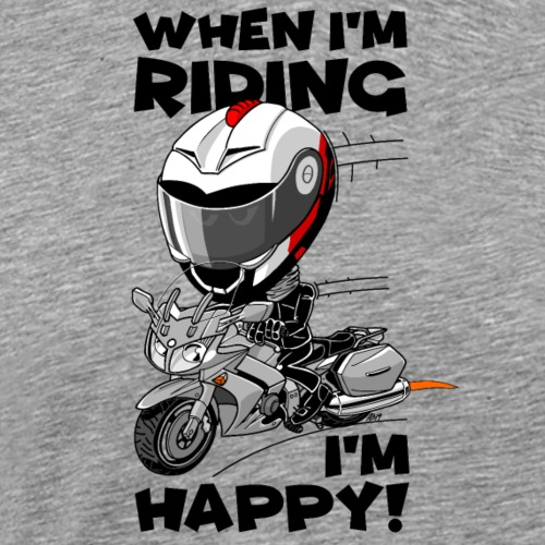FJR1300 When I'm riding, I'm happy - Mannen Premium T-shirt