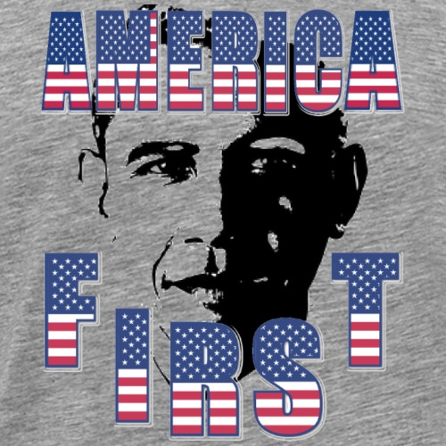 America First Obama or Trump? - Männer Premium T-Shirt