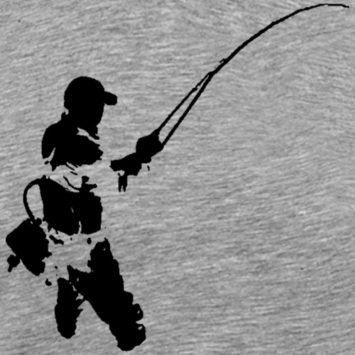 fly fishermen - black print - Men's Premium T-Shirt