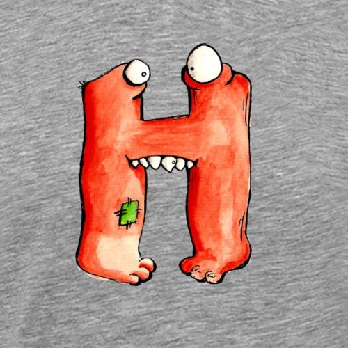 Monster Buchstabe Hans - Männer Premium T-Shirt