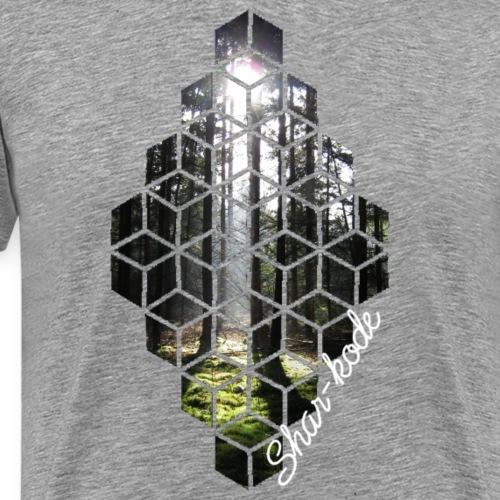 Woods Cubes - Mannen Premium T-shirt