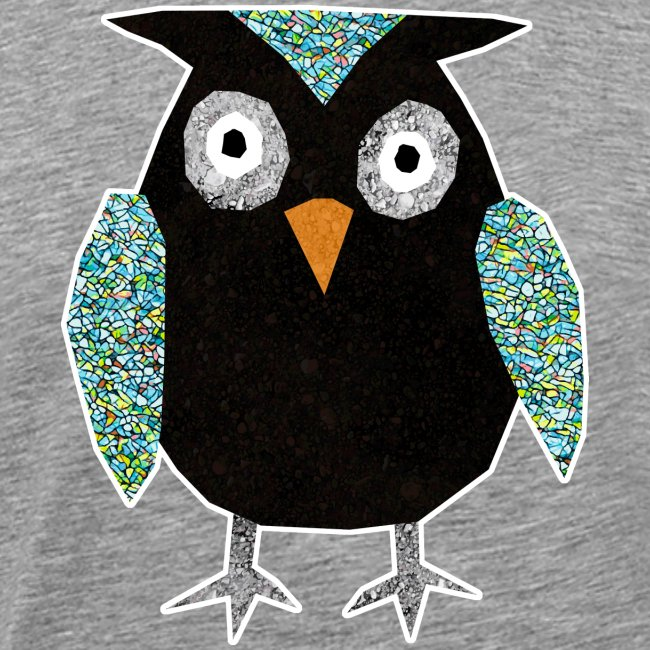 Collage mosaic owl