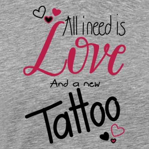 all i need is (schwarz) - Männer Premium T-Shirt