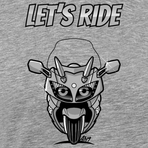 FJR letsride - Mannen Premium T-shirt