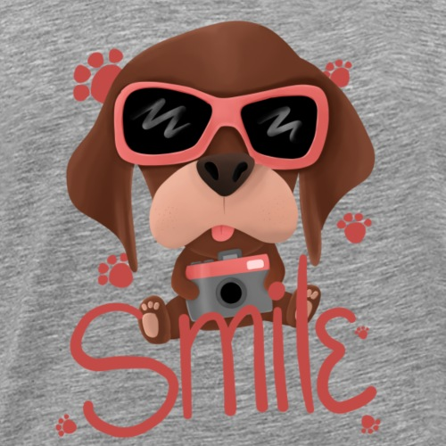 Photographe chien mignon - smile - T-shirt Premium Homme
