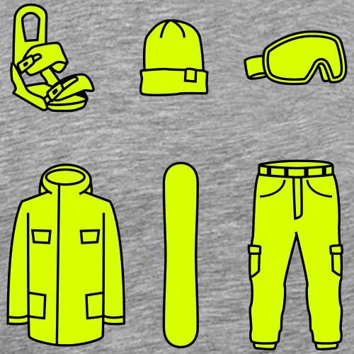 Snowboard Check - Männer Premium T-Shirt