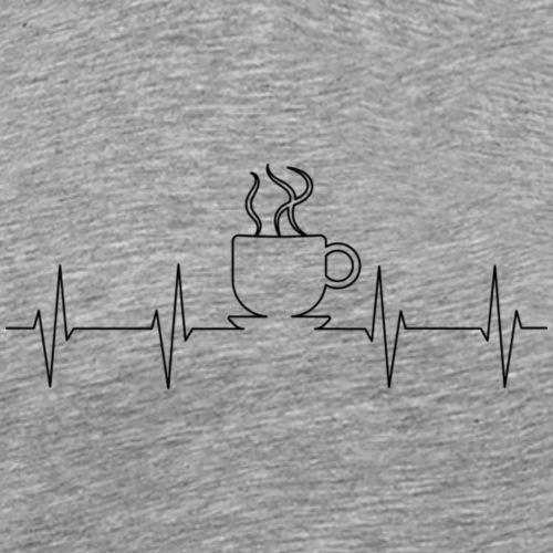 Kaffee Koffein Herzschlag - Männer Premium T-Shirt