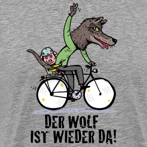 Wolf und Schweinchen - Männer Premium T-Shirt