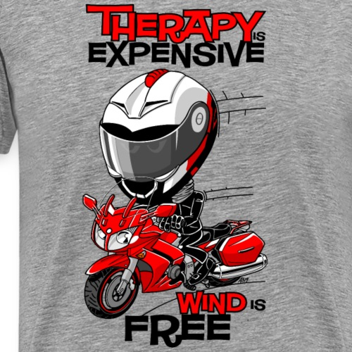 FJR1300 Therapy is expensive, wind is free - Mannen Premium T-shirt