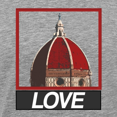 Cupola LOVE (stile Obey) - Maglietta Premium da uomo