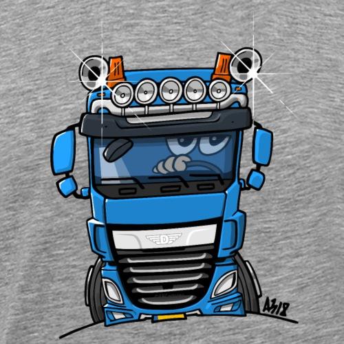 0700 D truck blauw - Mannen Premium T-shirt