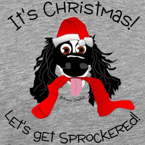 Christmas let's get sprockered! (black) - Men's Premium T-Shirt