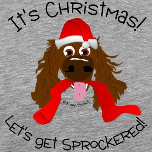 Christmas let's get sprockered (chocolate) - Men's Premium T-Shirt
