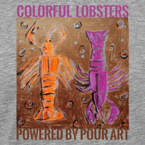 Colorful Lobsters by Pour Art - Herre premium T-shirt