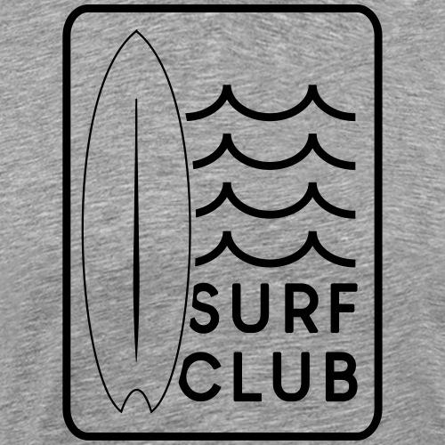 Surf Club rechteck Logo Welle Surfboard Geschenk