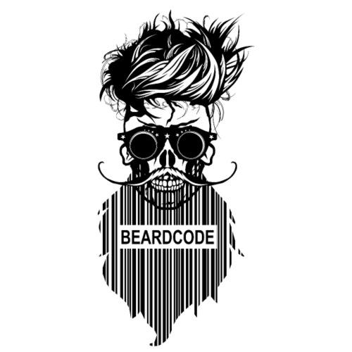 tete de mort hipster skull crane beard code barbe - T-shirt Premium Homme