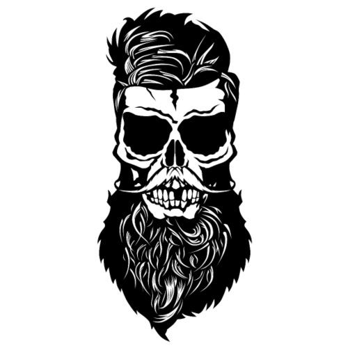 tete de mort hipster skull barbu barbe moustache m - T-shirt Premium Homme