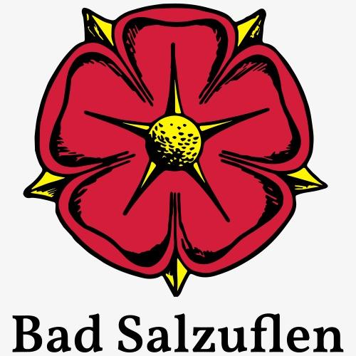 Lippische Rose mit Unterschrift Bad Salzuflen - Männer Premium T-Shirt