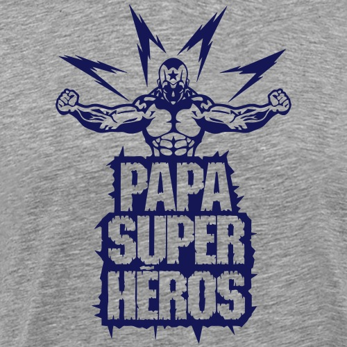 papa super heros eclair muscle bodybuild - T-shirt Premium Homme