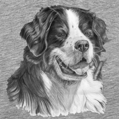 Bernese mountain dog - Herre premium T-shirt