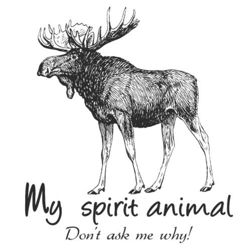 L'orignal est mon animal totem - T-shirt Premium Homme