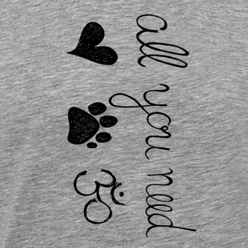 All You Need Geschenk Geschenkidee Yoga & Dog - Männer Premium T-Shirt