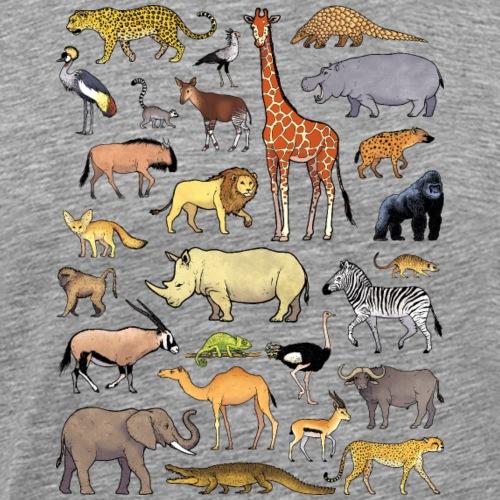 Animals of Africa 02 - T-shirt Premium Homme