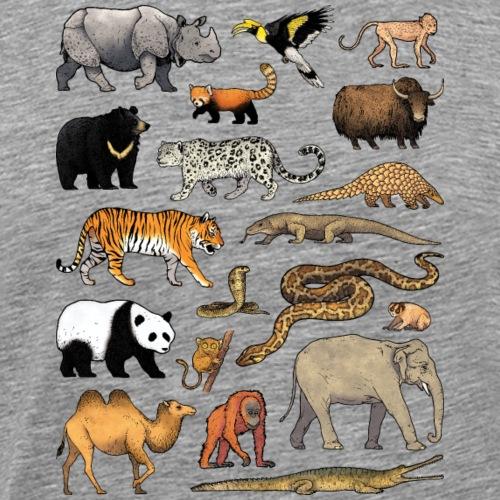 Animals of Asia 02 - T-shirt Premium Homme