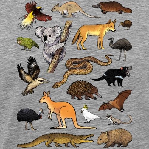Animals of Oceania 02 - T-shirt Premium Homme