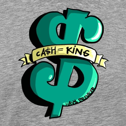 Cash is King groen met geel - Mannen Premium T-shirt