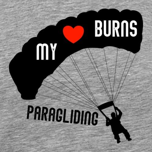 my heart burns paragliding - Männer Premium T-Shirt