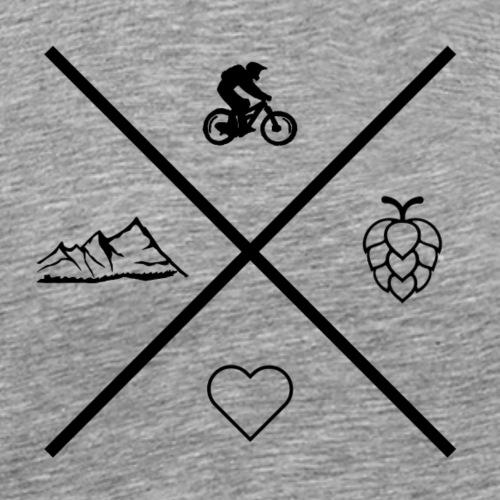 All what you need Bike MTB - Männer Premium T-Shirt