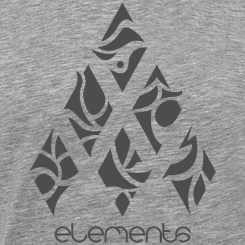 Six Elements of Nature - Komatsu Grau - Männer Premium T-Shirt