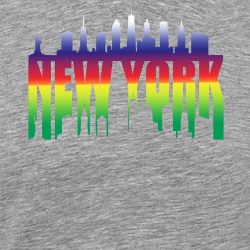 New York Skyline Silhouette - Men's Premium T-Shirt