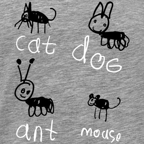 cat dog ant mouse - Men's Premium T-Shirt