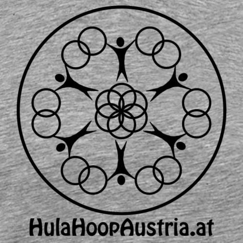 Hula Hoop Austria Logo Black - Männer Premium T-Shirt