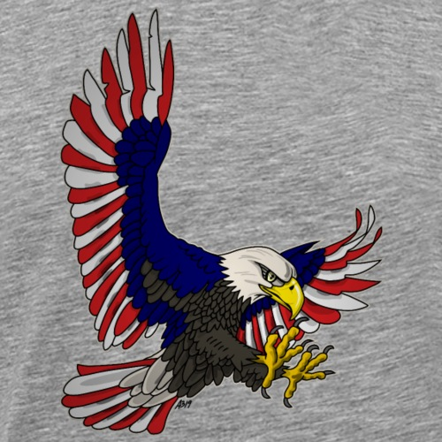 baldeagle attack american colors - Mannen Premium T-shirt