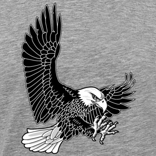 baldeagle attack zwartwit - Mannen Premium T-shirt