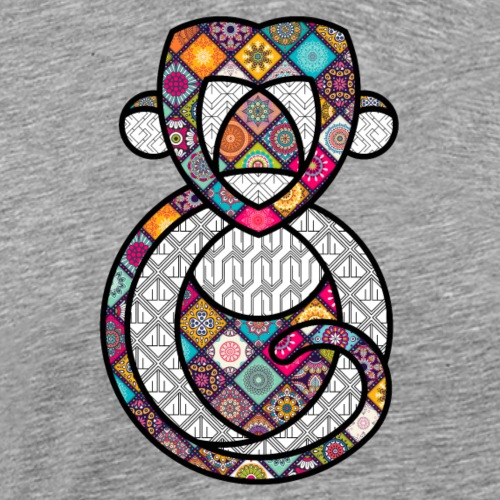 SINGE PSYCHEDELIQUE / THE PSYCHEDELIC MONKEY - T-shirt Premium Homme