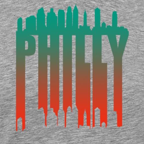 Philly Skyline Silhouette - Men's Premium T-Shirt