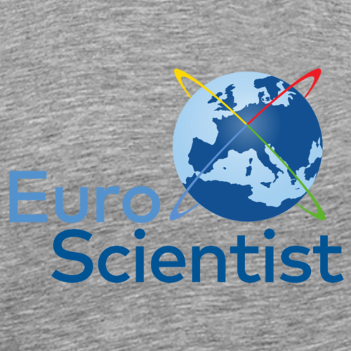 EuroScientist logo - blue - Men's Premium T-Shirt