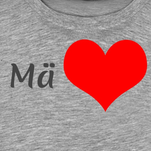 Mä sydän - Miesten premium t-paita