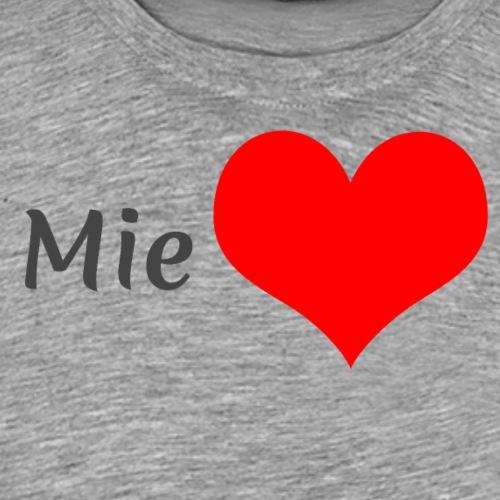 Mie sydän - Miesten premium t-paita