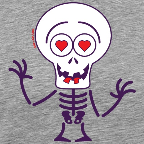 Halloween skeleton madly in love - Men's Premium T-Shirt