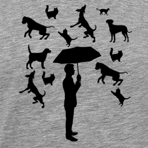 Its raining cats and dogs - Mannen Premium T-shirt