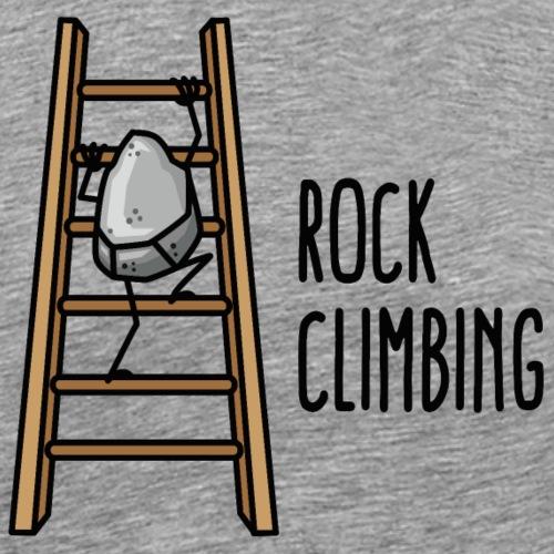 Rock Climbing lustig Klettersport Klettern Cartoon - Mannen Premium T-shirt