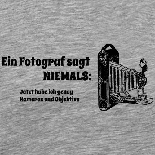Ein Fotograf sagt NIEMALS