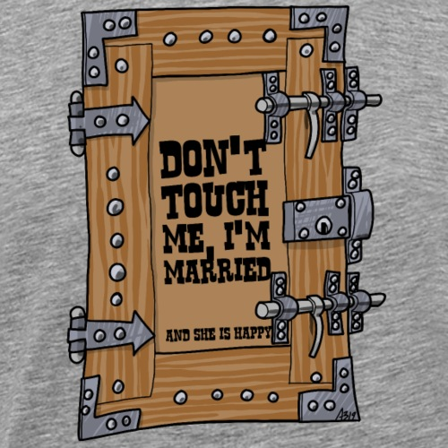 door dont touch me - Mannen Premium T-shirt