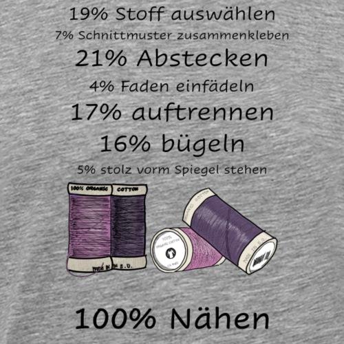 100% Nähen - Männer Premium T-Shirt