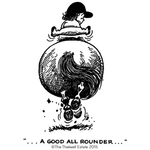 PonyGalopp Thelwell Cartoon - Men's Premium T-Shirt